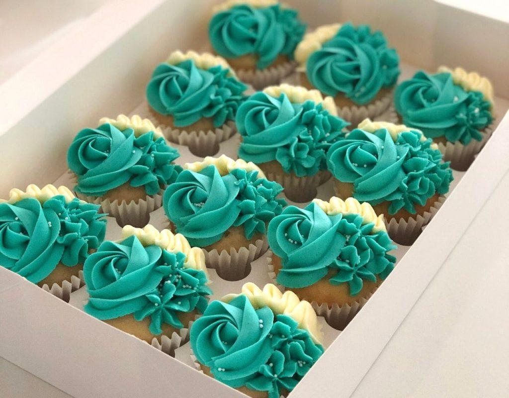 Teal-Cupcakes