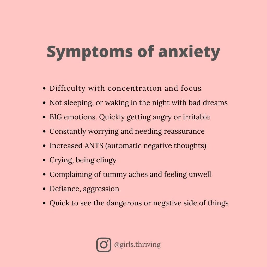 Recognising symptoms of Anxiety